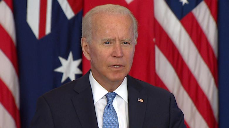 Biden announces trilateral partnership with UK and Australia