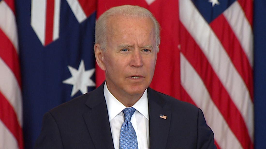 Biden explains new trilateral partnership with UK and Australia