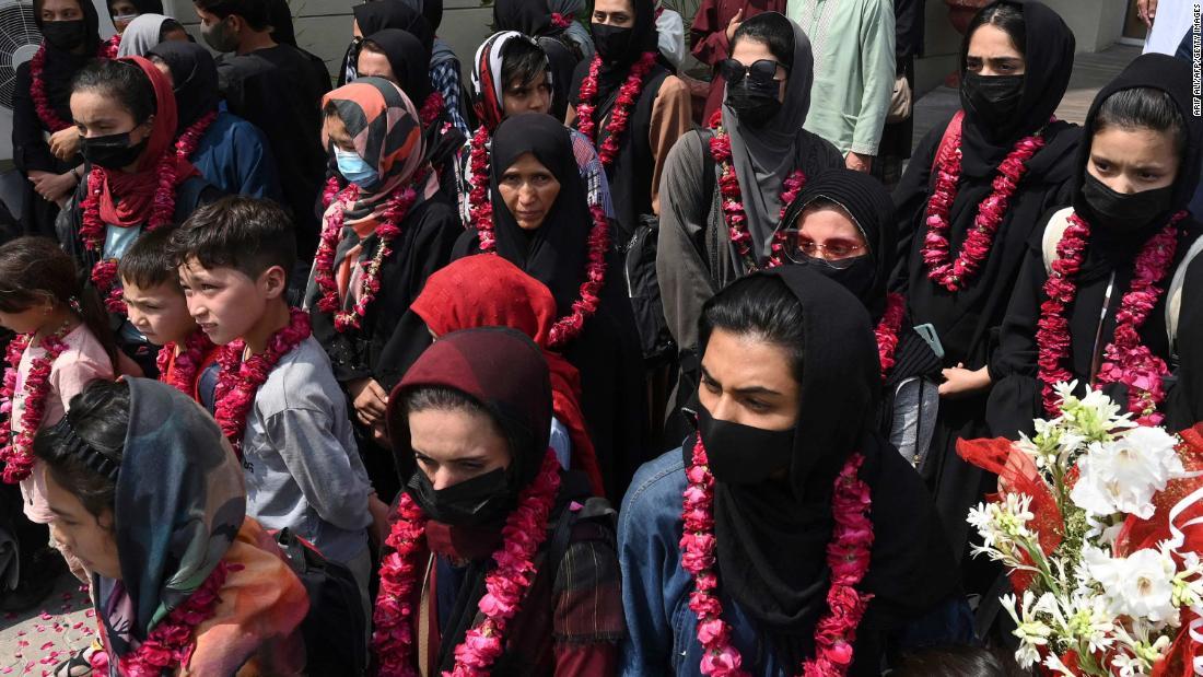Members of Afghan women's youth football team arrive in Pakistan