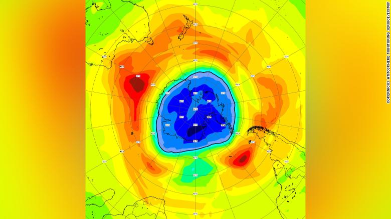 The ozone hole over the South Pole is now bigger than Antarctica