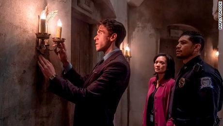 "Ashley Zukerman, Sumalee Montano and Rick Gonzalez in ""The Lost Symbol."""