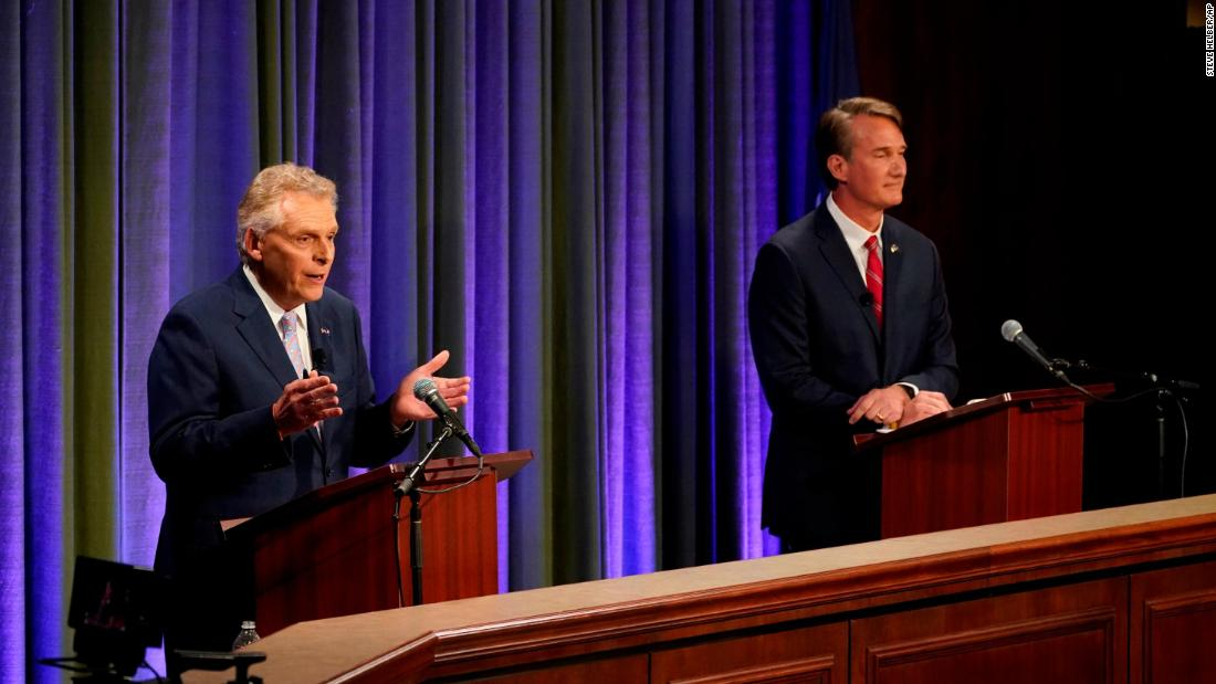 McAuliffe and Youngkin spar over Covid vaccine requirements in first Virginia debate – CNN
