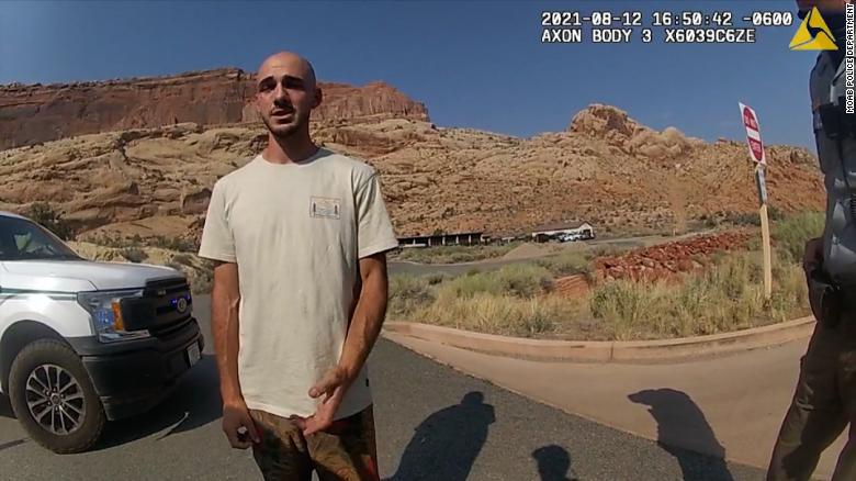 Bodycam footage from the Moab Police Department shows them talking with Brian Laundrie.