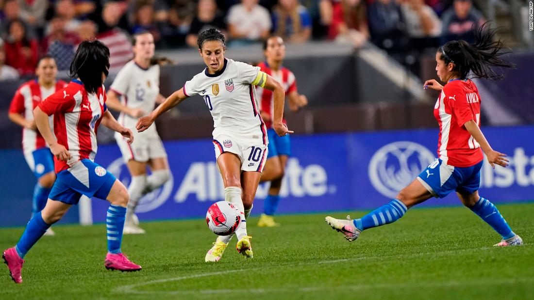 Carli Lloyd scores five goals as US women hammer Paraguay in farewell tour