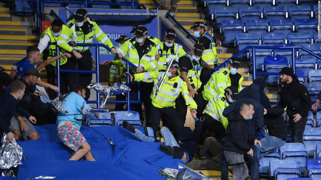 Multiple arrests made as fans clash around Leicester City's Europa League match against Napoli