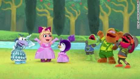 Gonzo's longtime friends accept them when they reveal that they were dressed as a princess at the Muppet Babies' ball.