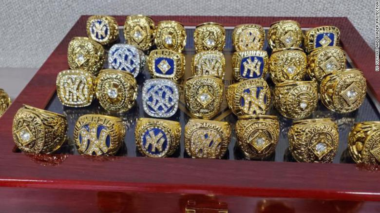 Customs officers seize fake championship rings that — if genuine — would have been worth nearly $2.4 million