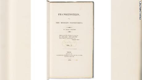 """The sale of """"Frankenstein"""" set a record for the highest price paid for a published work by a woman."""