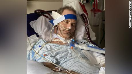 """Robby Walker's blood is removed and returned with ECMO, """"probably the most extreme form of cardiopulmonary support,"""" Dr. Robert Gallagher said."""