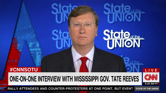 Image for Jake Tapper's full interview with Mississippi Gov. Tate Reeves