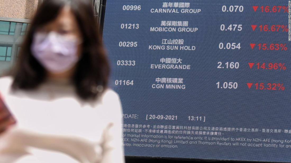 Fears about China's Evergrande spread to global markets