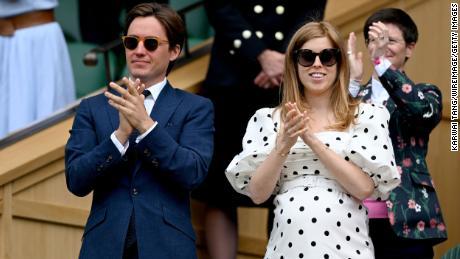 Edoardo Mapelli Mozzi and Princess Beatrice, pictured at Wimbledon in July.