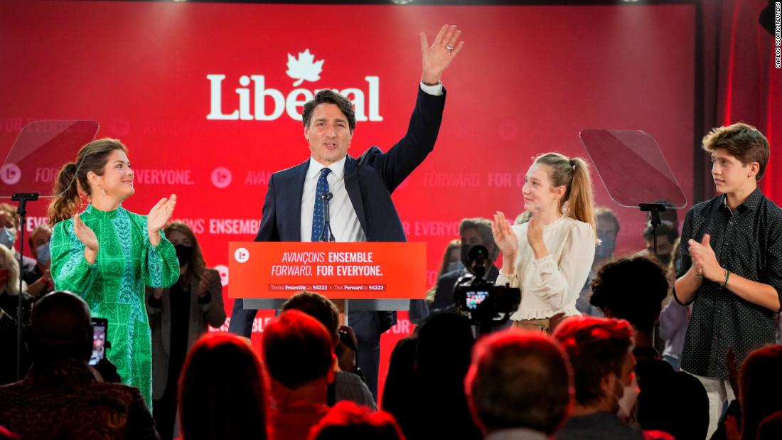 Trudeau and rival speak following Canadian election