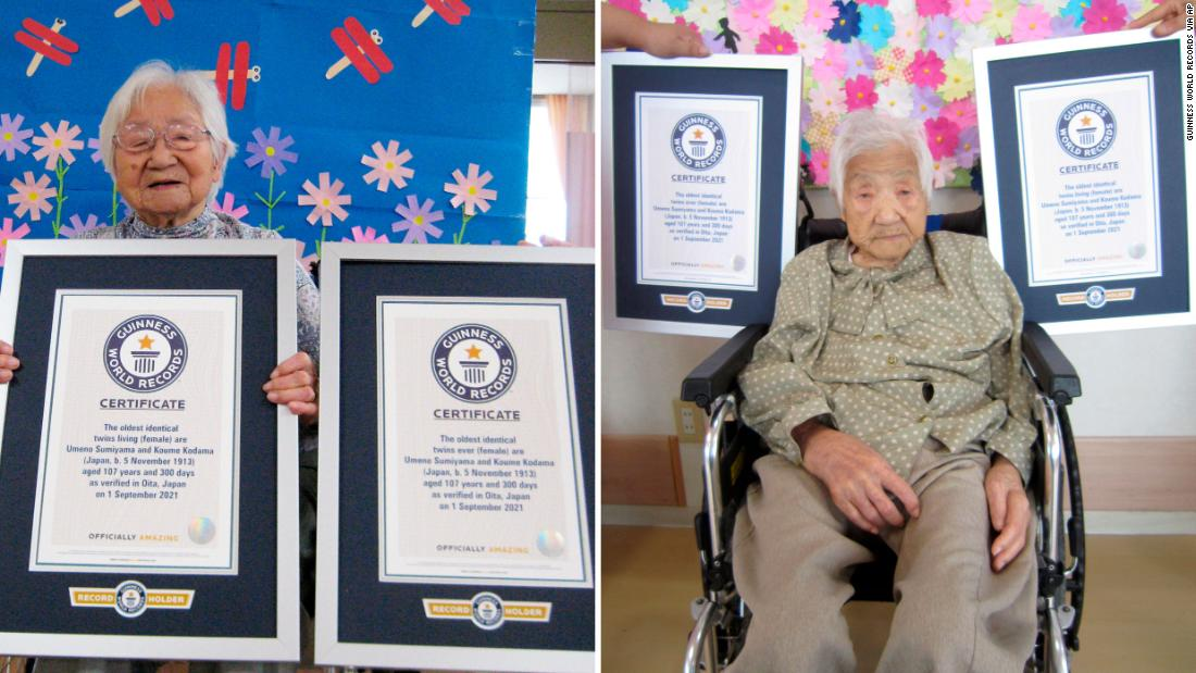 Japanese sisters, age 107, certified as world's oldest identical twins