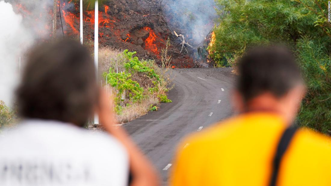 Lava gushes from Spanish volcano, forcing more evacuations