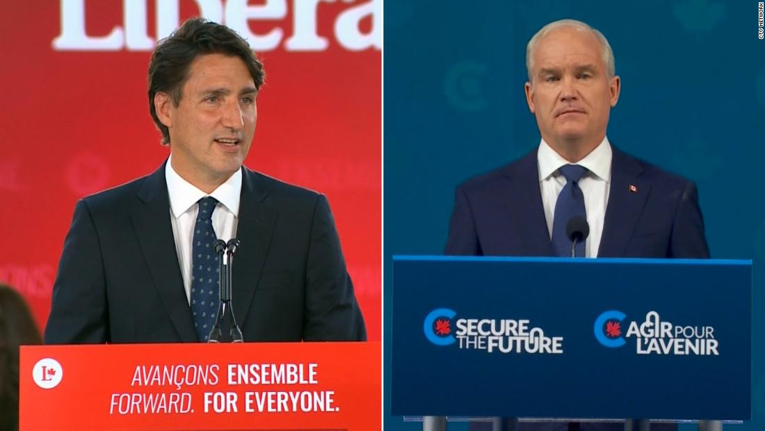 Hear what Trudeau and his rival said after results came in