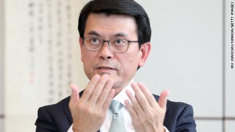 Edward Yau, Hong Kong's secretary for commerce and economic development, speaking in the city in September.
