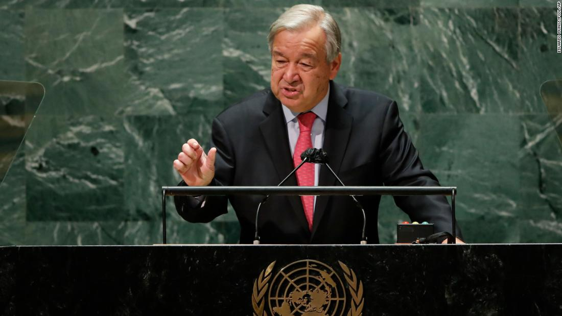 UN chief says climate alarms are ringing at a 'fever pitch' in frustrated speech