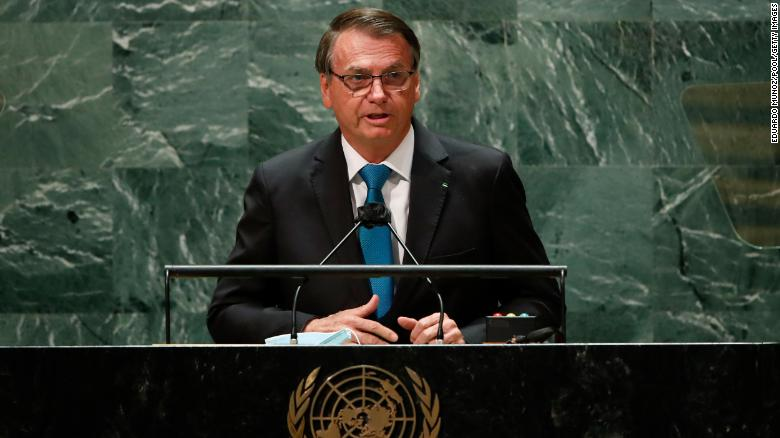 'Isolated' but defiant, Brazil's Bolsonaro defends handling of Covid and climate at UN