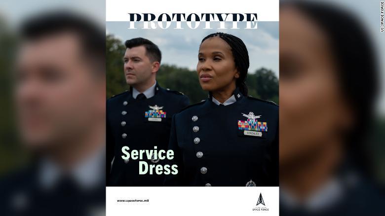 US Space Force unveils new uniform prototypes