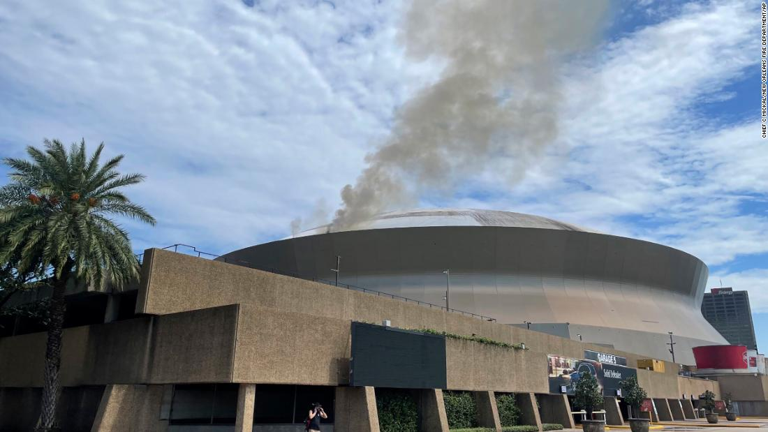 Superdome in New Orleans catches fire