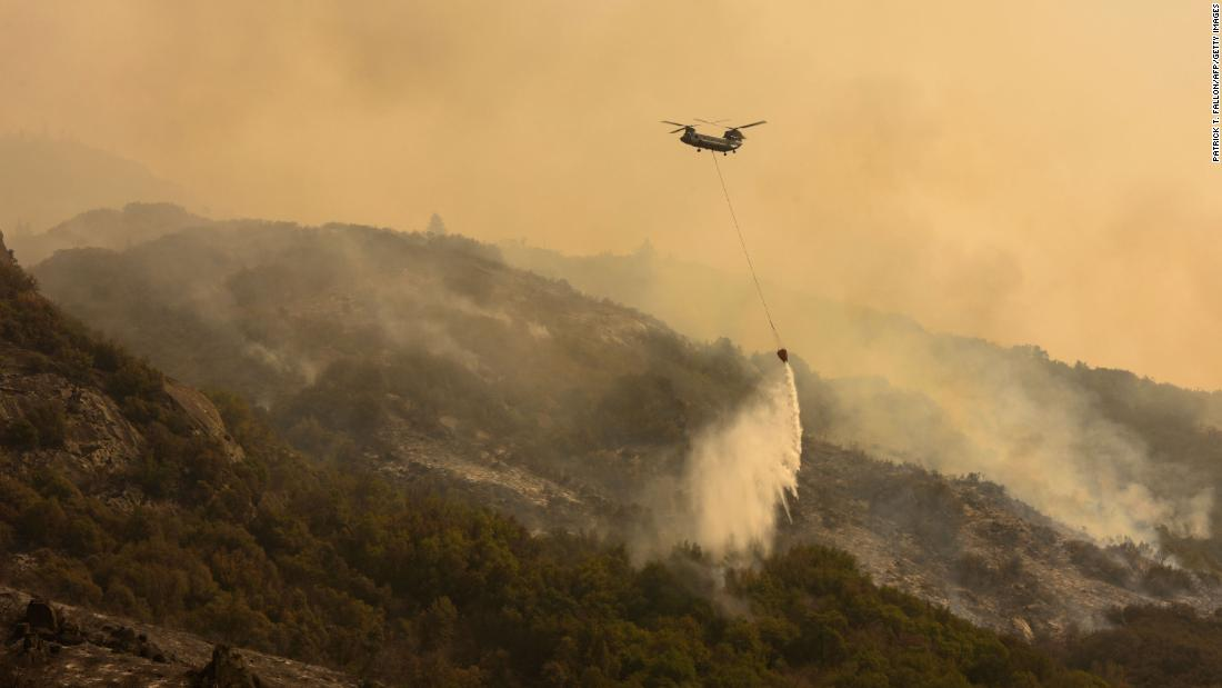 Firefighters make progress on one of California's largest blazes but face challenges