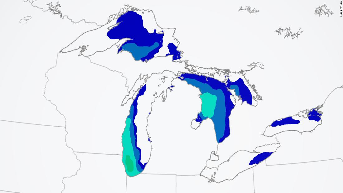 Up to 16-foot waves forecast near Chicago
