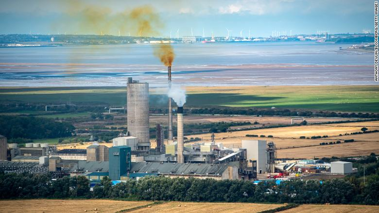 A fertilizer factory in Ince, United Kingdom, one of two shut down by CF Industries because of high natural gas prices.