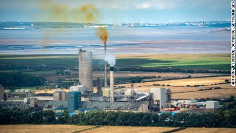 A fertilizer plant in Ince, UK, one of two closed by CF Industries due to high natural gas prices.