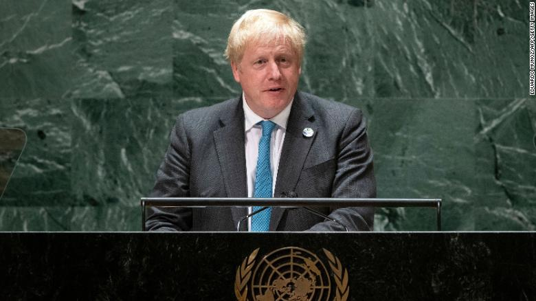 British Prime Minister Boris Johnson says the world needs to 'grow up' and deal with climate change