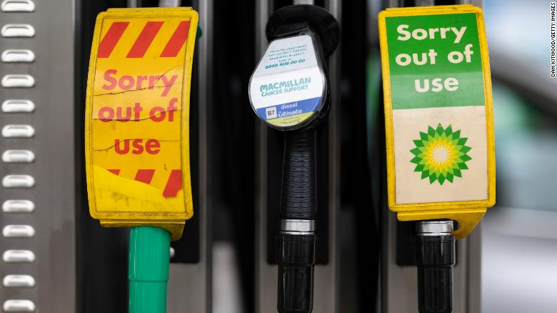 BP closes some UK service stations as driver shortage hits fuel supplies