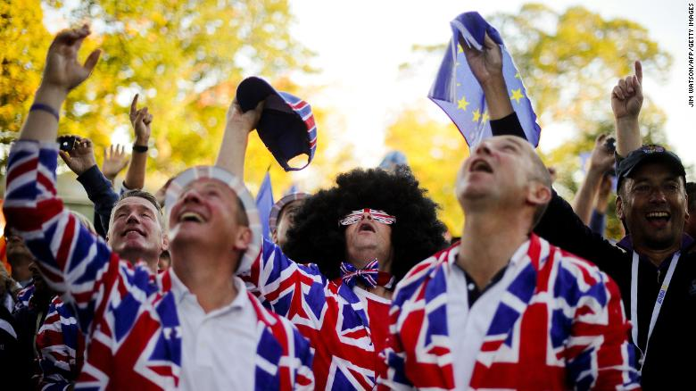 Fans cheer as champagne is dropped on them by the European team after their victory at the 39th Ryder Cup in Medinah, Illinois, in 2012.