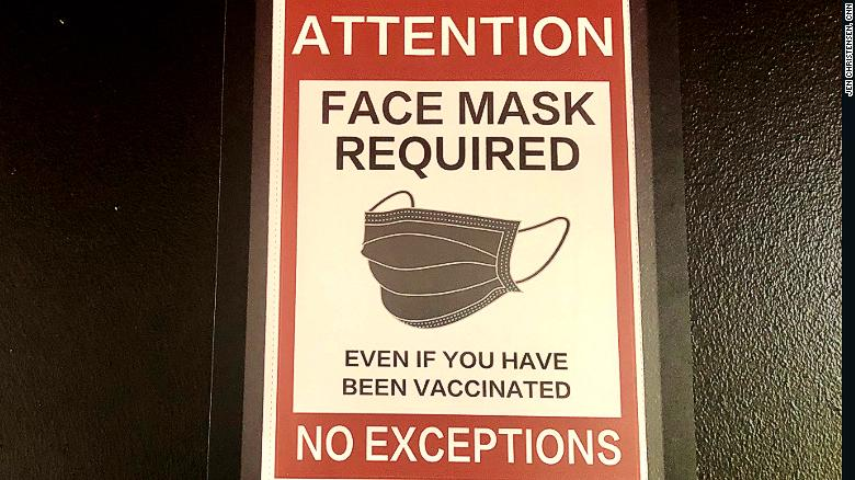 Face masks were required at the Vax to School teen clinic, even for the vaccinated.