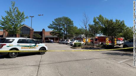 Police responded to a 911 call about the shooting at a Kroger in Collierville, Tennessee.