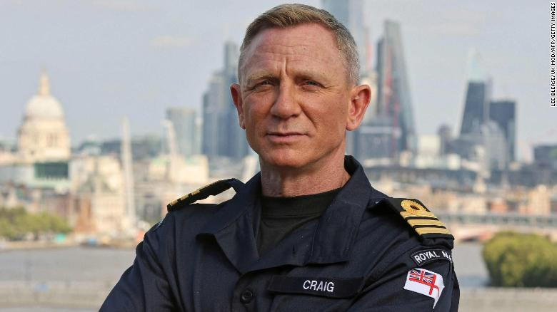 James Bond is a naval officer. Now Daniel Craig is too
