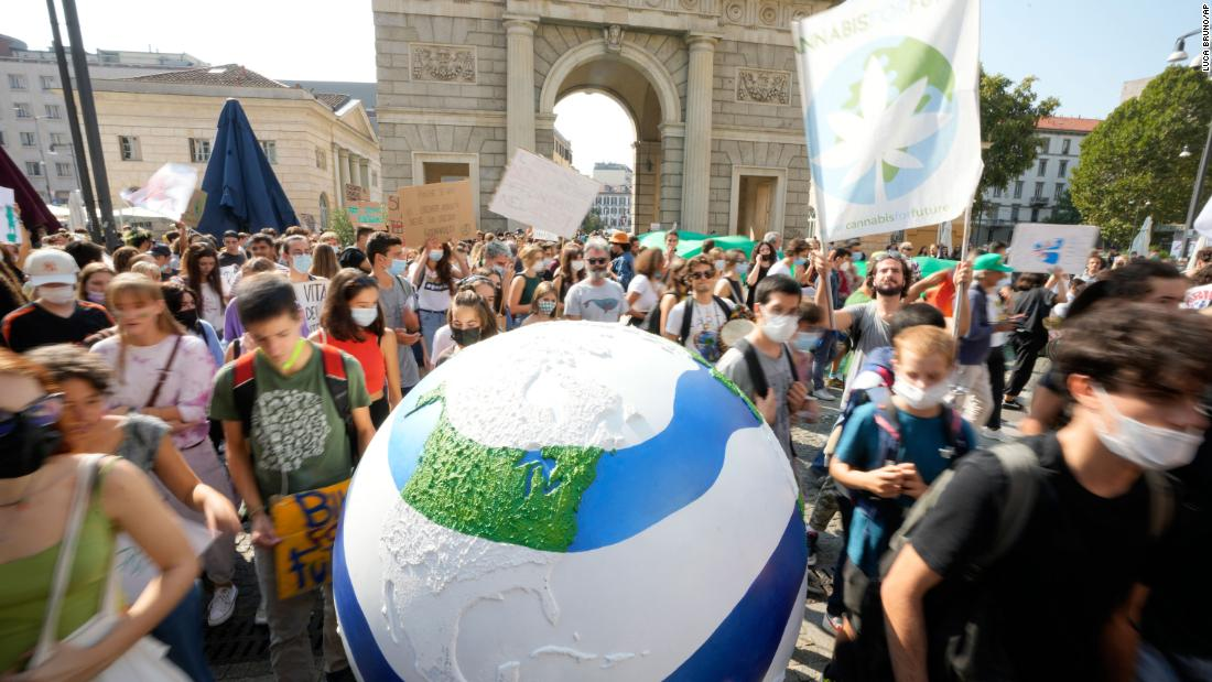 Young people hit the streets for climate protests around the world