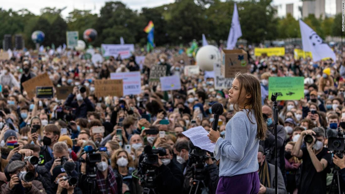 Greta Thunberg to climate protesters in Berlin: They simply don't give a damn about us