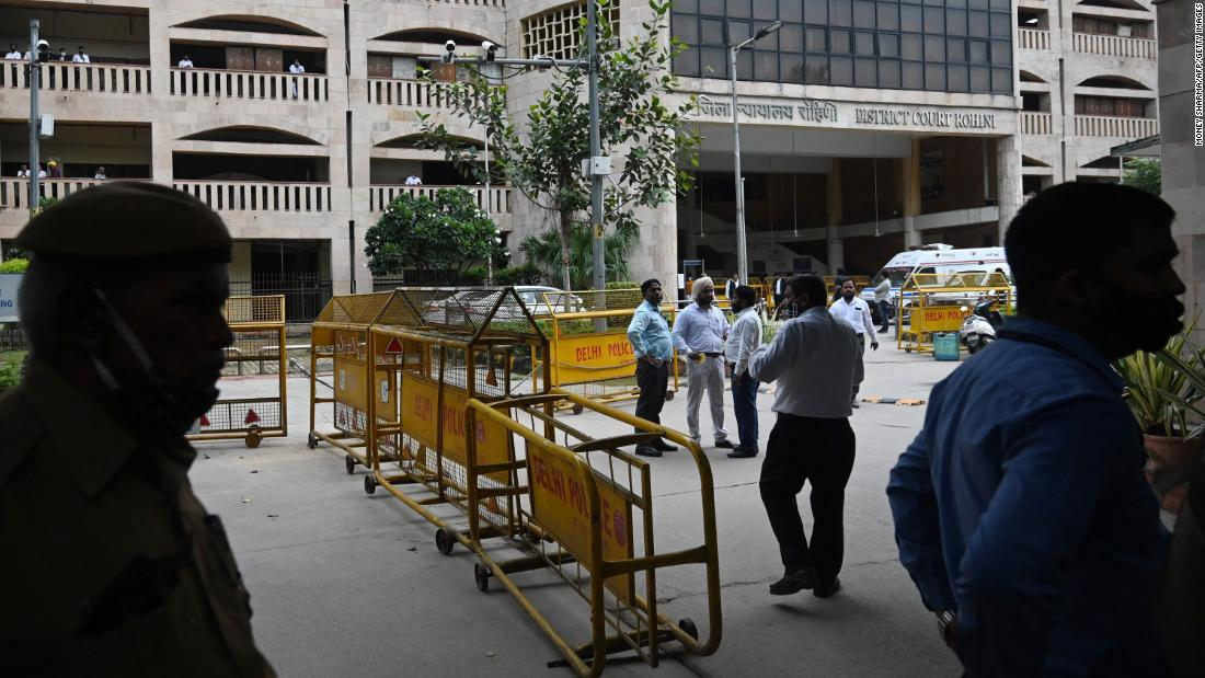 Murder defendant shot dead in Indian courtroom by gunmen dressed as lawyers