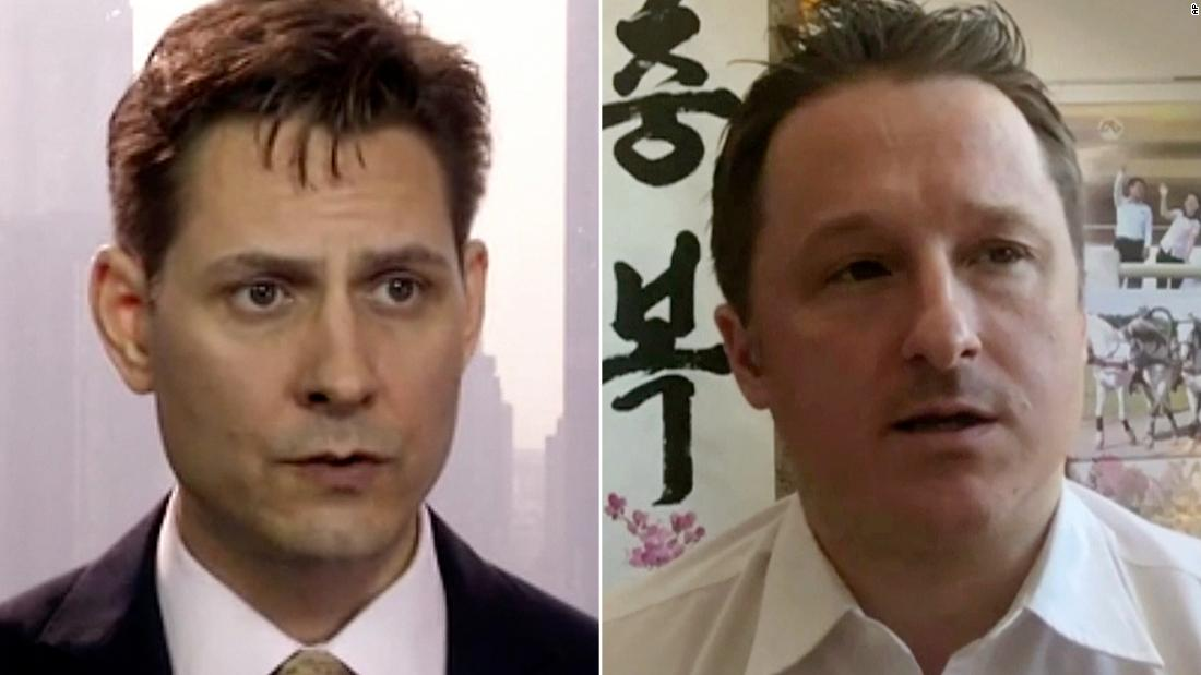 2 Canadians imprisoned by China have been released, Trudeau says