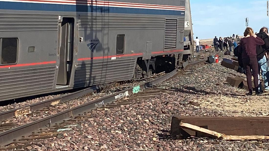 (CNN)Three people are dead after an Amtrak train derailed in Montana on Saturday afternoon, the Liberty County Sheriff's office said in a statement t