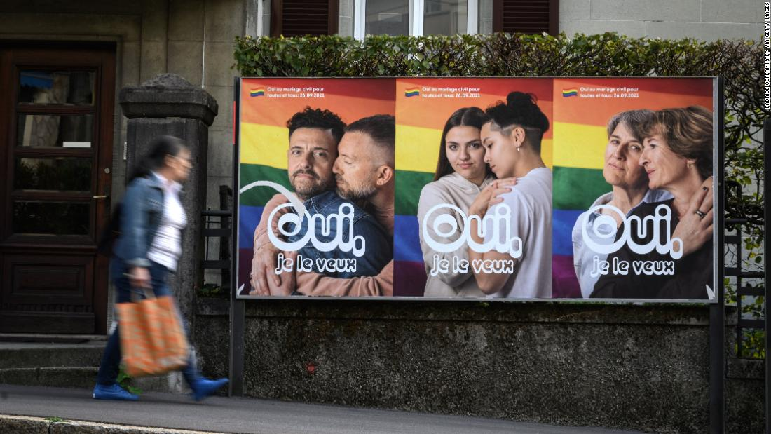 Swiss overwhelmingly vote to legalize same-sex marriage