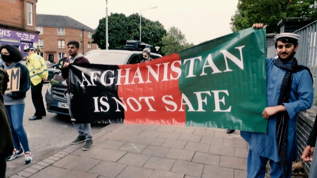 See what's happening to Afghan refugees arriving in the UK