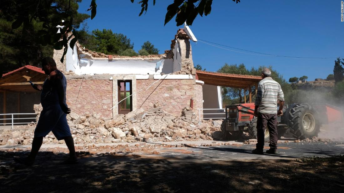 One dead and nine injured as buildings collapse during Crete earthquake
