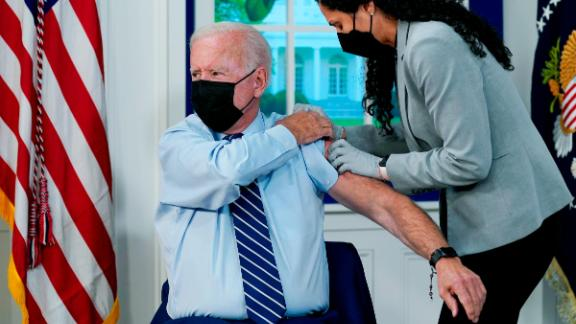 Image for President Biden Gets COVID-19 Vaccine Booster Shot at White House