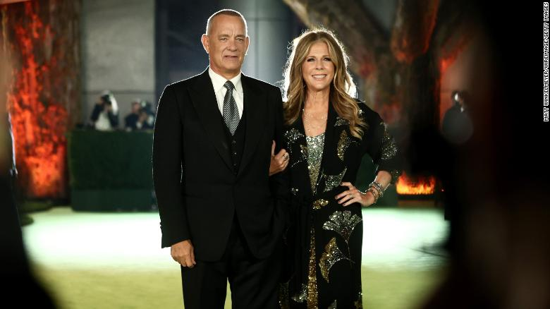 Tom Hanks and Rita Wilson attend The Academy Museum of Motion Pictures Opening Gala on September 25.