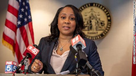 """Fulton County District Attorney Fani Willis says her office is dealing with """"an excess of 11,000 unindicted cases."""""""