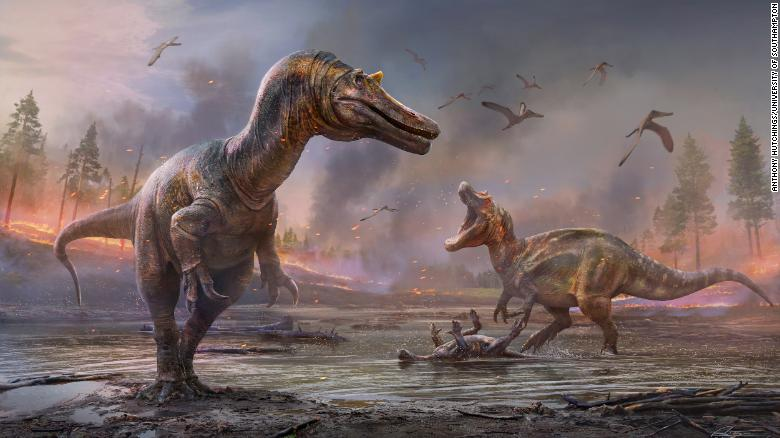 'Horned crocodile-faced hell heron' is one of two new Isle of Wight dinosaur discoveries