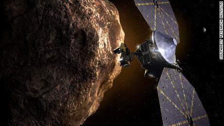 На этой иллюстрации показан космический корабль