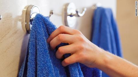 Keep your towels hung and aired out -- they can spread all sorts of nasty things if they stay damp between uses.