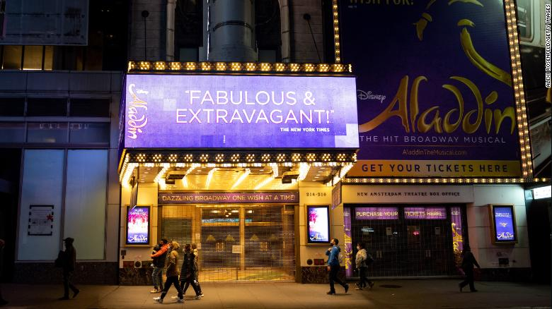 'Aladdin' Broadway show cancels performance due to Covid-19 one night after official return
